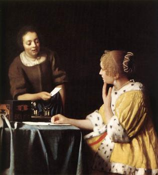 Johannes Vermeer : Mistress and Maid